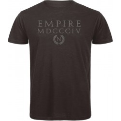 Empire Men T-Shirt Organic Black and Silver Cold