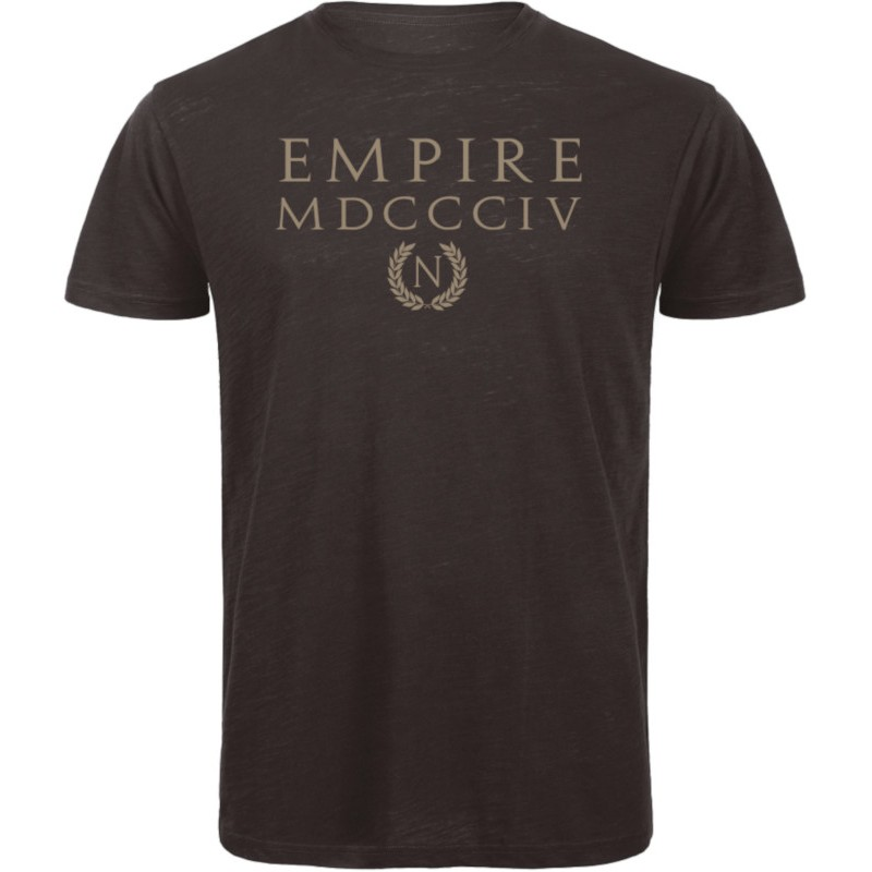 Empire Men T-Shirt Organic Black and Gold Cold