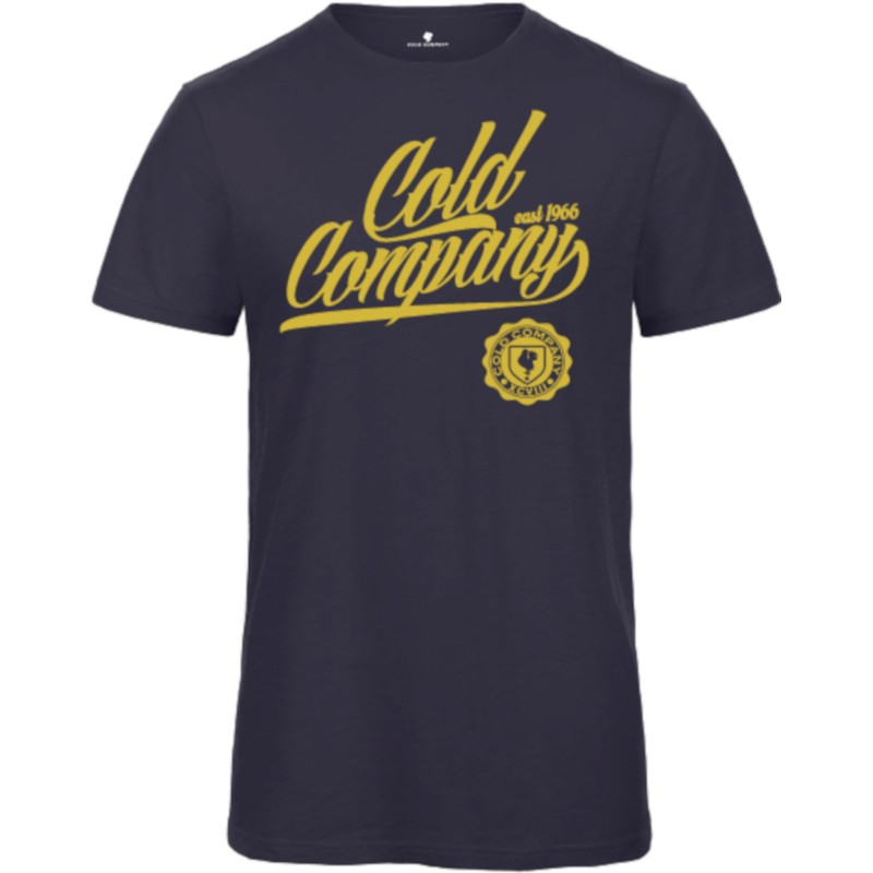Cold Company Men T-Shirt Organic Navy