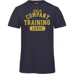 cold training t-shirt bio bleu marine homme