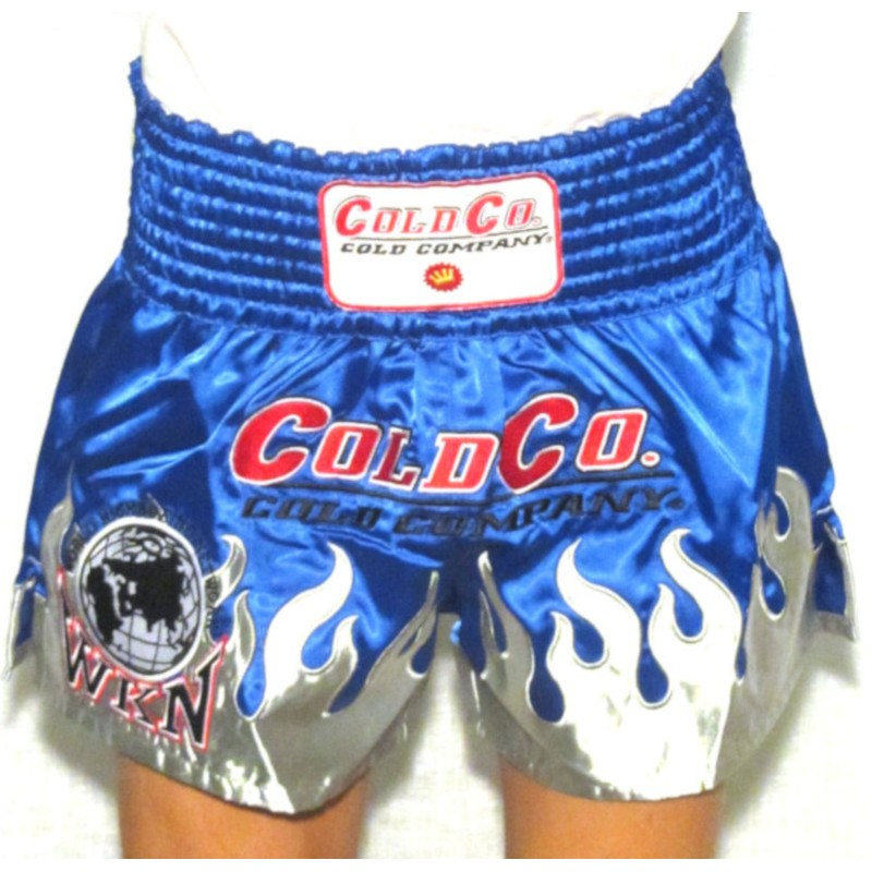 Cold Company WKN Shorts Muay Thai Blue World Kickboxing Network