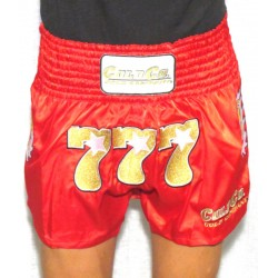 777 Cold Company WKN Short Muay Thaï Rouge World Kickboxing Network