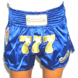 777 Cold Company WKN Shorts Muay Thai Blue World Kickboxing Network