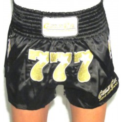 777 Cold Company WKN Shorts Muay Thai Black World Kickboxing Network