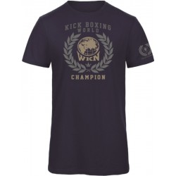 Laurel WKN T-Shirt Organic Navy Men World Kickboxing Network