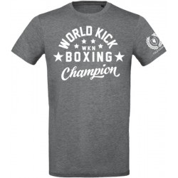 Champion WKN T-Shirt Organic Grey Men World Kickboxing Network